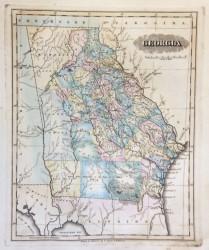 Georgia Map by Lucas Fielding Jr.