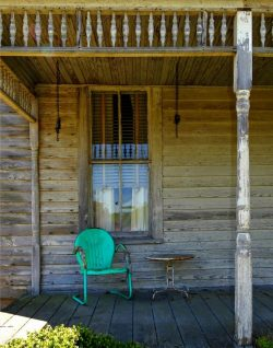 Green Metal Porch Chair by Watson Brown