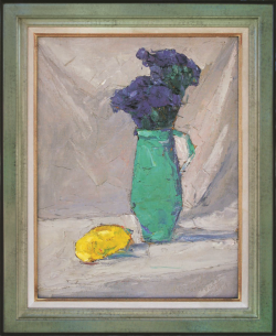 Green Vase with Lemon by Wladimir de (Wlodzimierz)  Terlikowski