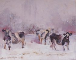 Heartland II: Winter Cows (A Sense of Calm Given the Situation) by Linda Hutchinson