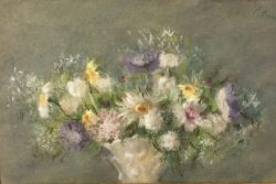 Summer Flowers in a Porcelain Vase by Hobson  Pittman