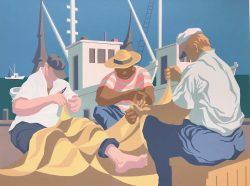 Mending Net Series: Sunny Days by Claude  Howell