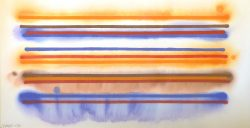 Orange and Blue Stripes by Victor Huggins (1936-2007)