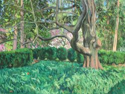 Reynolda Panorama from the Lake Porch, Panel V by Elsie Dinsmore Popkin