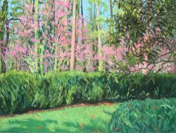 Reynolda Panorama from the Lake Porch, Panel IV by Elsie Dinsmore Popkin