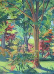 Autumn Backyard by Elsie Dinsmore Popkin