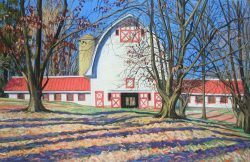 The Barn at Win-Mock Farm II by Elsie Dinsmore Popkin