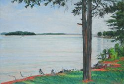 Summer Haze, Lake Norman by Elsie Dinsmore Popkin