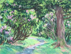 Pink Flowered Path by Elsie Dinsmore Popkin