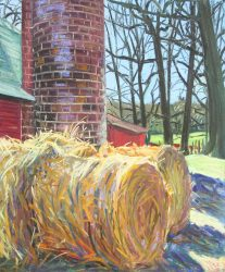 Haybales and Silo at Children's Home by Elsie Dinsmore Popkin