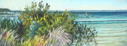 Bogue Inlet with Windsurfer by Elsie Dinsmore Popkin