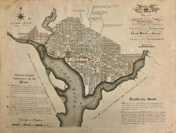 Plan of the City of Washington D.C. by James Thackara & John Vallance