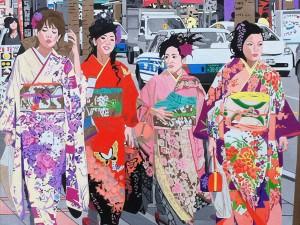 Kimono Stroll by Keiko Genka