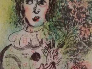 Le Clown Fleuri by Marc Chagall