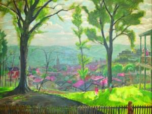 View of Manayunk from Boone Street by Francis  Speight