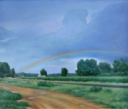 Rainbow Over Highway #903 by Mike Bennett
