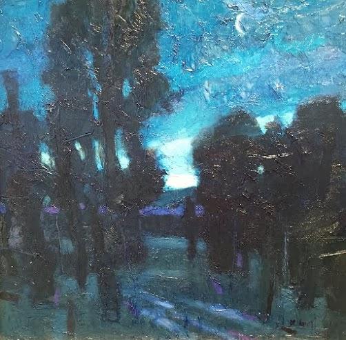 Moonlit Garden By Al Gury