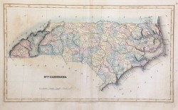 North Carolina Map by Lucas Fielding Jr. (1781-1854)