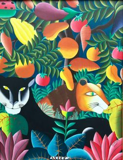 Panthere & Lion by Emmanuel Joseph