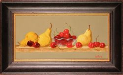 Pears and Cherries by Bert Beirne