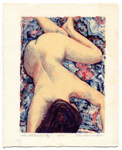 Nude with Oriental Rug by Popkin, Elsie Dinsmore (1937-2005)