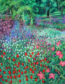 Reynolda Gardens by Elsie Dinsmore Popkin (1937-2005)