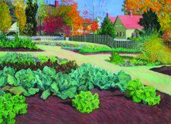 Old Salem; Leinbach Garden II by Elsie Dinsmore Popkin