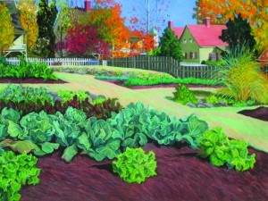 Old Salem; Leinbach Garden II by Elsie Dinsmore Popkin (1937-2005)