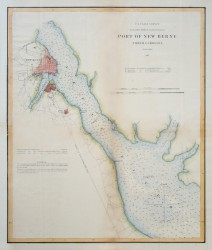 Port of New Berne, NC by U.S. Coast Survey Chart