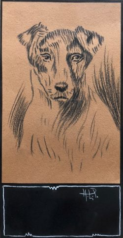 Portrait of a Terrier by Hobson Pittman (1899-1972)