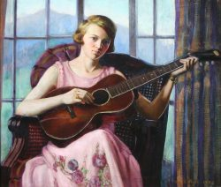 Portrait of Ellen Stone Scott by Mabel Pugh (1891- 1986)