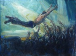 Stage Diving by Leslie Pruneau