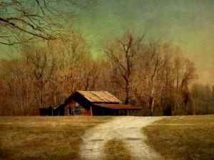 Old Red Barn in Winter by Watson  Brown