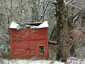 Red Barn in the Snow by Watson  Brown