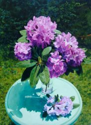 Rhododendron with Green Table by William C. Wright