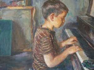 Tom at Piano by Sarah Blakeslee