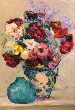 Scarlet Mixed Bouquet avec des Pots de Poterie by Wladimir de Terlikowski