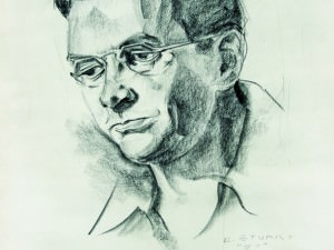 Self Portrait by Duncan Stuart (1919-2001)