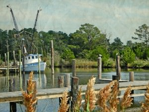 Shrimp Boat in Swan Quarter by Watson  Brown
