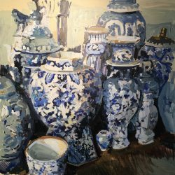 Blue and White China by Laura Lacambra Shubert
