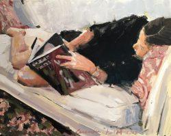 Girl Reading by Laura Lacambra Shubert