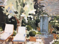 Blue Door by Laura Lacambra Shubert