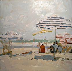 Striped Umbrellas by Laura Lacambra Shubert