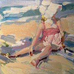 Little Girl Playing in the Sand by Laura Lacambra Shubert