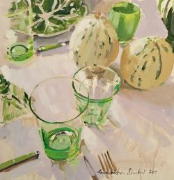 Still Life with Melons by Laura Lacambra Shubert