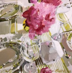 Still Life With Pink Flowers by Laura Lacambra Shubert