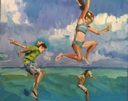 Three Jumping in the Ocean by Laura Lacambra Shubert