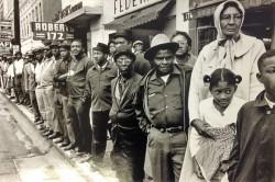 Street Scene by Burk Uzzle (1938- )