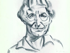 Portrait with Glasses by Duncan Stuart (1919-2001)