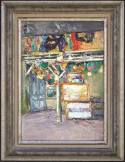 Terlikowski's Studio, Rue de la Grand Chaumiere by Wladimir de (Wlodzimierz)  Terlikowski